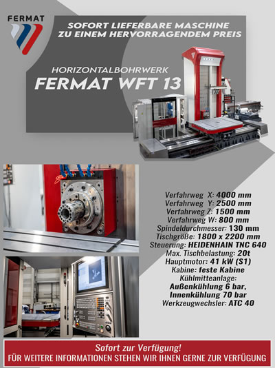 Horizontalbohrwerk FERMAT WFT 13